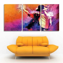 $enCountryForm.capitalKeyWord UK - Printed 3 Panel Canvas Wall Art Prints Michael Jackson Picture for Home Decor Living Room Bedroom