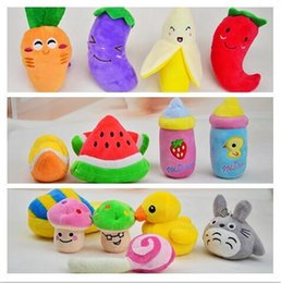 $enCountryForm.capitalKeyWord NZ - New Design Cute Pet Toy For Dog Cat Puppy Dogs Squeak Toys Resistance To Bite Plush Filled Cotton Cheap Pet Supplies HJIA1103