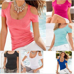 Cotton Kimonos Wholesale Canada - Pure cotton t-shirts sexy Strapless short sleeved T-shirt bottoming shirt 2017 Europe and America new fashion ouc296