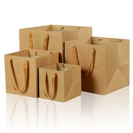 $enCountryForm.capitalKeyWord Canada - XS Brown Paper Bag More Size Flowers Square Bottom Gift Bag General Advertising Jewelry Packaging Wholesale
