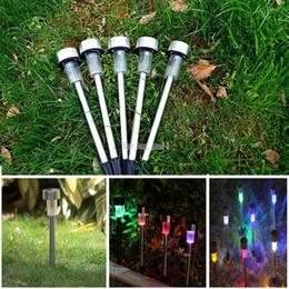 Good Best Solar Lamps Solar LED Light Multicolor Stainless Steel Solar Lawn  Lights Led Garden Light Decoration Outdoor Street Lamps Waterproof