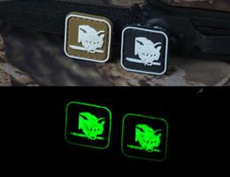 Armband Jacket Canada - PVC Foxhound Patch Fluorescent 3D Hook Tactical Patches Noctilucent Combat Armband Luminescent Badge 2pcs For Jackets Caps Bag