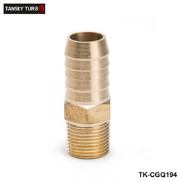 "Coupler Hose NZ - TANSKY -Lot of 25 Brass Barb Fitting Coupler 5 8"" Hose ID x 3 8"" Male NPT Fuel Gas Water TK-CGQ194"