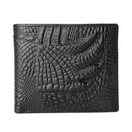 $enCountryForm.capitalKeyWord Canada - JINBAOLAI Men Wallets Genuine Leather Alligator Claws Grain Retro Carteira 3 Fold Driving ID Card Holder Slot Coin Pocket Purses
