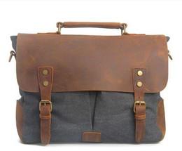 14993d7cec35 Canvas Leather Crossbody Bag Canada - Crossbody Bag Military Canvas + Genuine  Leather shoulder bags Men