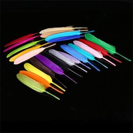 Multi-Color Natural Teñido Ganso Pluma DIY Accesorios para el cabello Suministros de fiesta de la boda Decoración de ropa envío gratis CB006