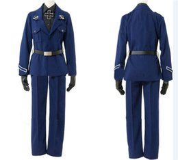 female anime cosplay costumes Canada - Malidaike Anime Halloween Party Suit APH Axis Powers Hetalia Prussia Outfits Uniform Cosplay Costume