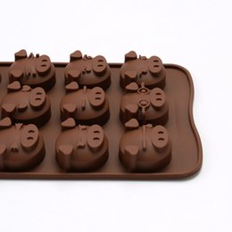 kitchen accessories baking silicone mold pig chocolate moulds wholesale party decoration candle soap molds cake tools supplies free shipping