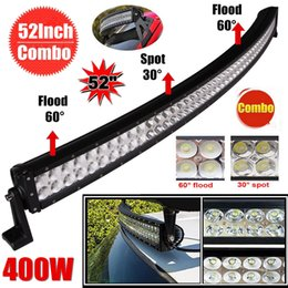 """Cabin Lights Canada - 52"""" inch 400W Curved Offroad LED Work Light Bar Auxiliary Driving Lamp Flood Spot Combo Beam For 4x4 Jeep Cabin UTE SUV ATV Truck Car Boat"""