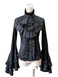 $enCountryForm.capitalKeyWord UK - 2017 Autumn Lolita Collar Dress Gothic Ruffles With Self-Cultivation Shirt,Elegant Lace Sleeve Blouses & Shirts For Women