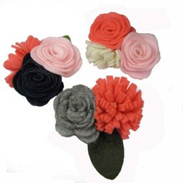 Wholesale Handmade soft felt Rose Flower hair silk flower fashion accessories