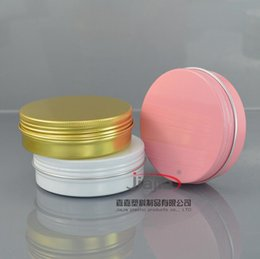 Personal decal online shopping - Silver black Gold white pink red Aluminum Container Candle Holder Aluminum Jar g g g g g Cream Cans Round Tin Aluminum Cream