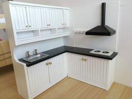 Wholesale 112 New Design Cute Dollhouse Miniature Integral Kitchen Furniture Set 1096