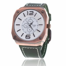 Trade digiTal online shopping - Big dial watch Men s leather strap export foreign trade manufacturers selling hot and ms strap watch Peach heart digital Quartz watch