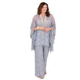 Navy blue dress suit online shopping - Gorgeous Lilac Plus Size Lace Chiffon Mother of the Bride Dresses Suits Plus Size for Formal Party Women Guest Pants for Wedding