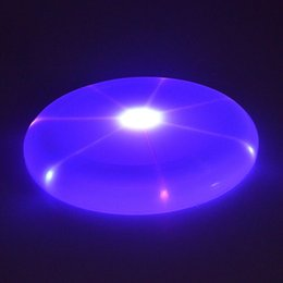 $enCountryForm.capitalKeyWord Canada - 24cm Dog Flying Disk Arrow Colorful Pet Toy Spin LED Light Outdoor Toy Flying Saucer Disc Free Shipping