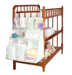 Wholesale Eco Diapers NZ - Wholesale- Hanging Bedside Diaper Storage Bag Baby Crib Nursing Bottle Toy Organizer Wardrobe Closet Accessories Supplies
