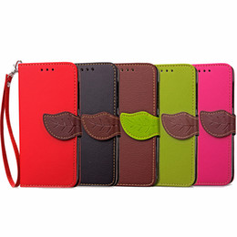 $enCountryForm.capitalKeyWord UK - Luxury Leaf Flip Leather Wallet Card Case Slot Cover with Strap For Oneplus 3 Oneplus 5 1 + 5 Hit Color Phone Case