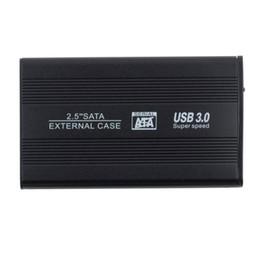 "Discount hard drives boxes - Wholesale- CAA-Hot Sale 2.5"" USB 3.0 HDD Case Hard Drive SATA External Enclosure Box New"