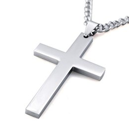 Discount mexican gold chain prices - Cross Necklaces&Pendants For Men Stainless Steel Gold-Color Male Pendant Necklaces Prayer Jewelry High Quality Factory P