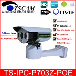 Discount micro wired camera audio TSCAM new SP-P703Z-POE 6-22mm lens IP Camera Outdoor ONVIF HD 720P with POE TF Micro SD Card Slot Two Way Audio Line P2P