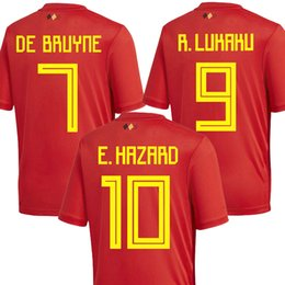 Top thailand E HAZARD KOMPANY BELGIUM soccer jersey 2018 world cup DE  BRUYNE LUKAKU JERSEY 18 19 FELLAINI football shirt kit camisa maillot 9b47e7f30