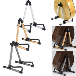 $enCountryForm.capitalKeyWord Australia - Guitar Stand Universal Folding Electric Acoustic Bass Guitar Stand A Frame Floor Rack Holder Gold Silver Gray 3 Colors