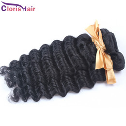 cheap brazilian deep wave hair 2021 - Great Brazilian Deep Curl Hair Extensions 4pcs Brazilian Deep Wave Hair Wefts Cheap Remi Human Hair Weave Natural Curly