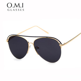 062161526f2 2017 Fashion Sunglasses Hot Ray Men Pilot Oversized Flat Top Sun Glasses  Shades Vintage Brand Designer OM262 ray brands sunglasses for sale