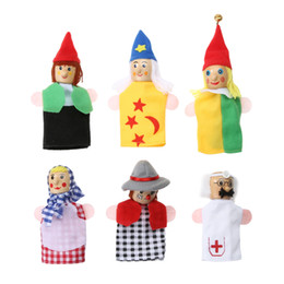 $enCountryForm.capitalKeyWord UK - Kids Profession Role Play 6Pcs Lot Lovely Cartoon Finger Puppets Soft Child Story Telling Doll Toy Cute Hand Dolls Finger Puppet