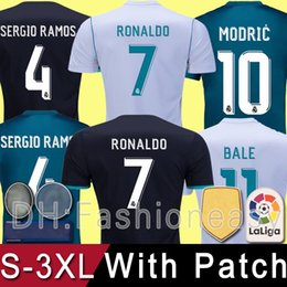 0c2183a050c online shopping Top thailand AAA cheap Real Madrid RONALDO Soccer Jerseys  Football Shirts Black Blue white