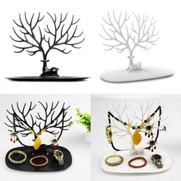 Wholesale Beautiful Deer Tray Display Stand ABS Plastic Jewelry Holder Bracelet Ring Necklace Earring Showing Display Shelves Jewelry Organizer