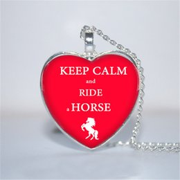 Horse riding gifts online shopping - 10pcs Keep Calm and Ride a Horse Horse Jewelry heart
