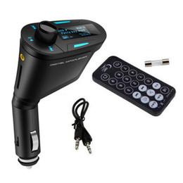 Kit mãos livres bluetooth sem fio bluetooth transmissor fm mp3 player do carro kit de carregador display lcd para iphone / samsung 3 cor em Promoção