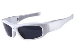 Sunglasses Audio UK - HD 720P Sunglasses DVR mini audio video recorder Glasses camera Sports DV Eyewear Video Camera Pinhole Camera wearable Sunglasses DV white