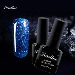 Laca De Gel Barato Baratos-Venta al por mayor-Saroline 3D diamante brillo UV afortunado gel de uñas polaco rosa color de la serie gel de uñas Led UV lentejuelas gel de laca barata