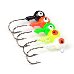 High Quanlity Jig Ведущий головной рыболовный крючок 1g / 3.5g / 5g / 7.0g / 10g soft Grub worms bait Fish Hooks