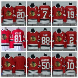 Cheap  19 Jonathan Toews 88 Patrick Kane Chicago Blackhawks NHL Ice Hockey  Home Red Road White Black Green Men Sports Stitched Jerseys China 902281f4b