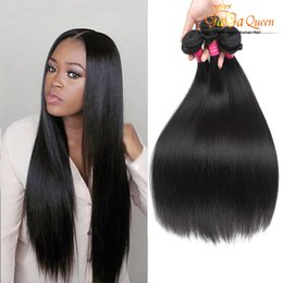 Virgin hair bundles fast shipping online shopping - Virgin Brazilian Hair Straight Bundles Gaga Queen Extensions Unprocessed Human Hair Weaves Dyeable Best Hair Weave Fast Shipping
