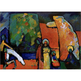 China High quality Wassily Kandinsky Paintings Improvisations 2 Reproduction Canvas art hand-painted home decor cheap wassily kandinsky paintings suppliers