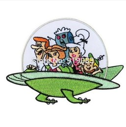 "$enCountryForm.capitalKeyWord NZ - 4"" Jetsons Family Spaceship patch TV Movie Series Uniform applique iron on Retro Kids Cartoon badge collector For Shirt Sweater"