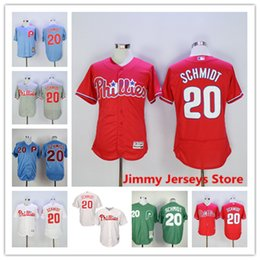 0fd52ebfe ... 20 Mike Schmidt Jersey Philadelphia Phillies Baseball Jerseys Flexbase  Cool Base Stitched White Grey Red Free ...