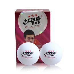 12 штук DHS 3 звезды (3 звезды, 3 звезды) 40+ (новые материалы) белый настольный теннис / PingPong шары