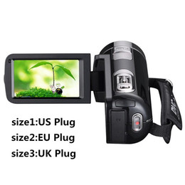 China Wholesale-1080P HD Night Vision Digital Camera Video DV 3.0'' LCD Touch Screen 16x Zoom Cam Mini Camcorder HDMI US EU UK Plug in Stock supplier camera rotating screen suppliers
