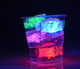 color bar products Australia - LED Ice Cubes Water Sensor Sparkling Luminous Multi Color Glowing Drinkable Wedding Bar Decoration Atmosphere Wine Cup Bar Products