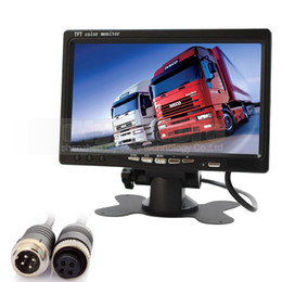 Chinese  DIYKIT 7 Inch TFT LCD Color Monitor Rear View Mirror Monitor Car Monitor with 2 x 4PIN Video Input manufacturers