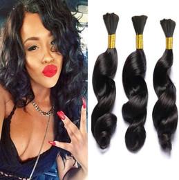 Bulk Hair Braids NZ - Hot Sale 8A Loose Wave Bulk Human Hair For Braiding 100% Unprocessed brazilian bulk hair extensions without weft