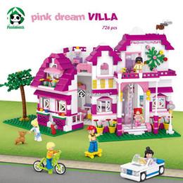 $enCountryForm.capitalKeyWord Australia - Pink Dream Villa Building Blocks Set 726 Pcs 6 Toy Figures Model Building Toy Bricks Toys for Girls Sluban Compatible with