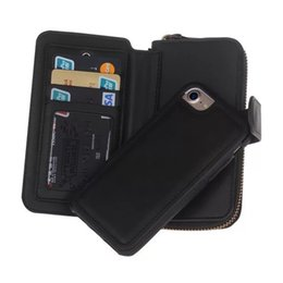 $enCountryForm.capitalKeyWord Canada - Wallet Leather Case For iPhone7 plus 6s 6plus iphone5 5S SE GalaxyS7 S7 edge Zipper Purse Pouch Phone Cases Women Lady Handbag Wallet