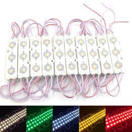 Ingrosso Moduli LED per vetrina luce anteriore per lampada 3 SMD 5630 Iniezione bianco per ip68 Lampadina per retroilluminazione a led (10 piedi = 20 pezzi)